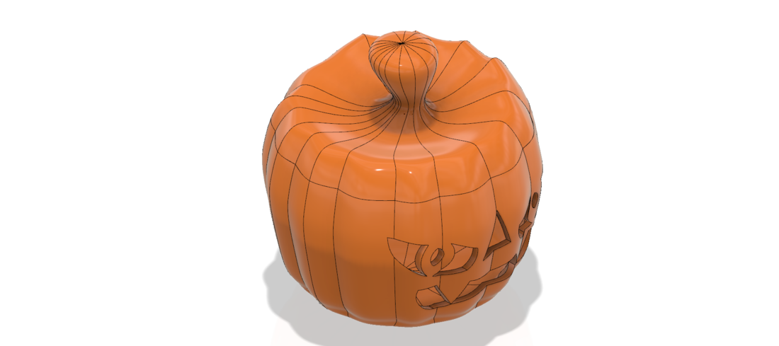 real halloween pumpkin v11 candlestick magic ritual for 3d 3D Print 264465
