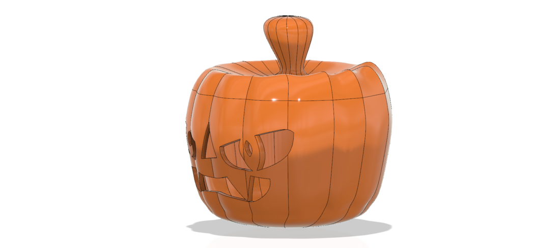 real halloween pumpkin v11 candlestick magic ritual for 3d 3D Print 264466