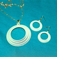 Small Crochet Pendant set 3D Printing 26449