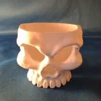 Small Spelunky Skull Cup Kapala 3D Printing 2645