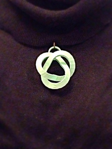 Abstract Knot Pendant 3D Print 26451