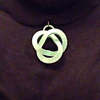 Small Abstract Knot Pendant 3D Printing 26451