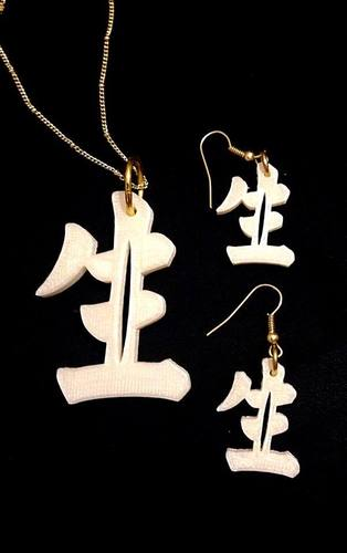 "Chinese character for 'Life"" 3D Print 26470"