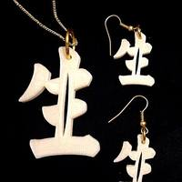 "Small Chinese character for 'Life"" 3D Printing 26470"