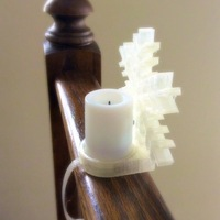 Small Snowflake tealight holder for banisters 3D Printing 26479