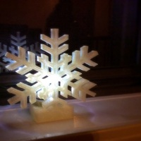 Small Snowflake Tealight Holder 3D Printing 26485