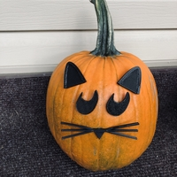 Small Mr. Pumpkin Head/Halloween Cat Pumpkin Face/Kids Halloween Craft 3D Printing 264962