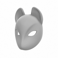 Small Fox Mask 3D Printing 265024