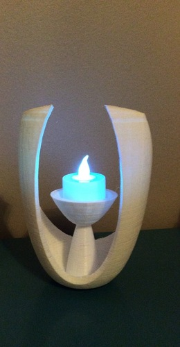 Modern Open Oval Tealight Holder 3D Print 26535