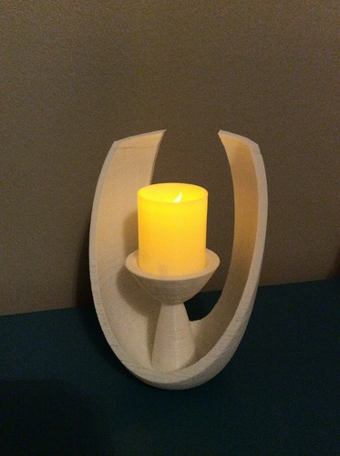Modern Open Oval Tealight Holder 3D Print 26537