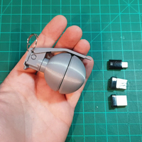 Small HAND GRENADE CONTAINER KEY CHAIN 3D Printing 265376