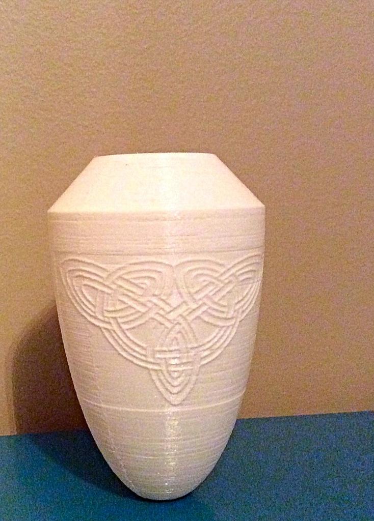 3d Printed Celtic Vase By Gabe Pinshape