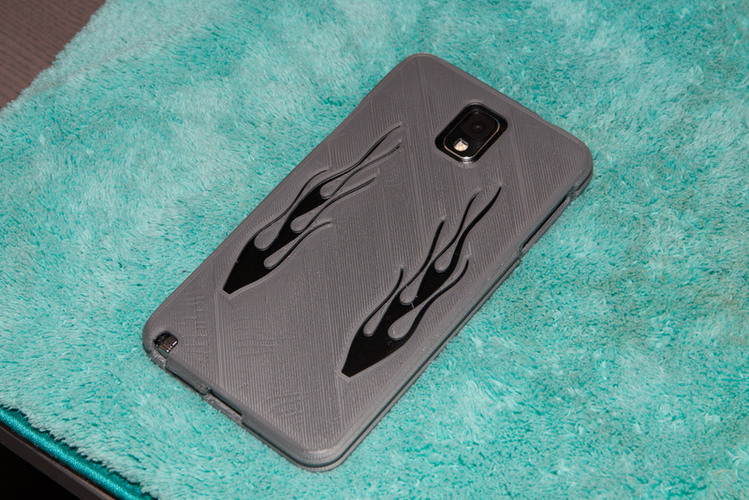 Note 3 flamed case with rippled edges 3D Print 26559