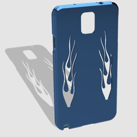 Small Note 3 flamed case with rippled edges 3D Printing 26560