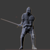 Small chivalry knight 3D Printing 26573