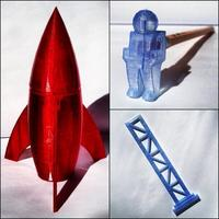 Small Rocket School Set 3D Printing 26581