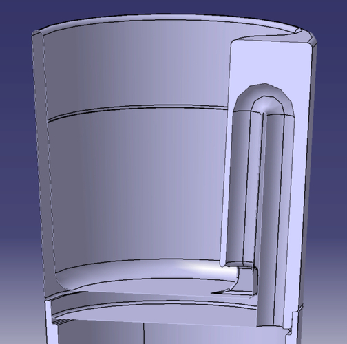Pythagorean Shot Glass 3D Print 26609