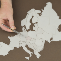 Small Europe map 3D Printing 266380