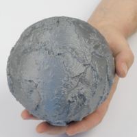 Small Earth Relief Globe 3D Printing 266393