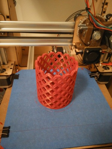 Pencil Holder - Square 3D Print 26643