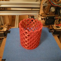 Small Pencil Holder - Square 3D Printing 26643