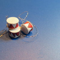 Small Miniature Christmas Drums 3D Printing 266586