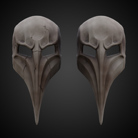 Small Plague Doctor Mask  3D Printing 266660