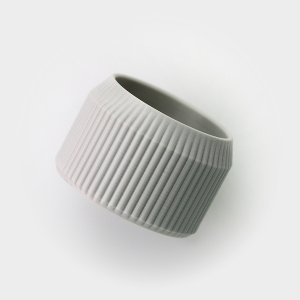 Medium Striped Pot 3D Printing 26703