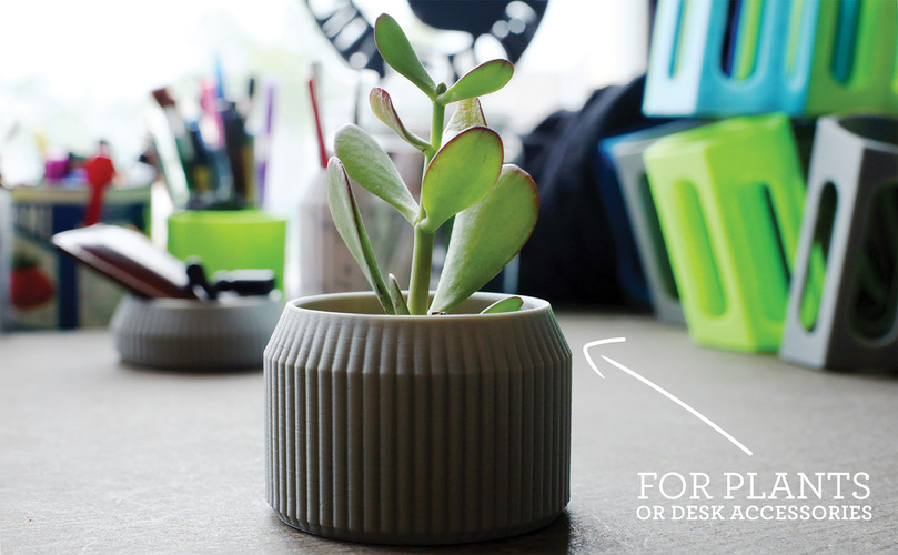 Striped Pot 3D Print 26704