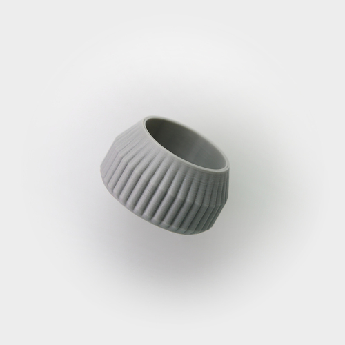 Striped Tea Candle Holder 3D Print 26706