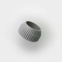 Small Striped Tea Candle Holder 3D Printing 26706