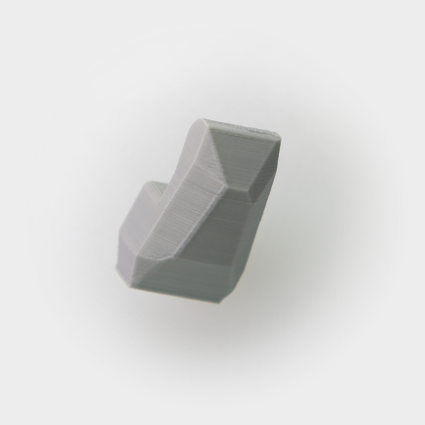 Medium Faceted Wall Hook 3D Printing 26724