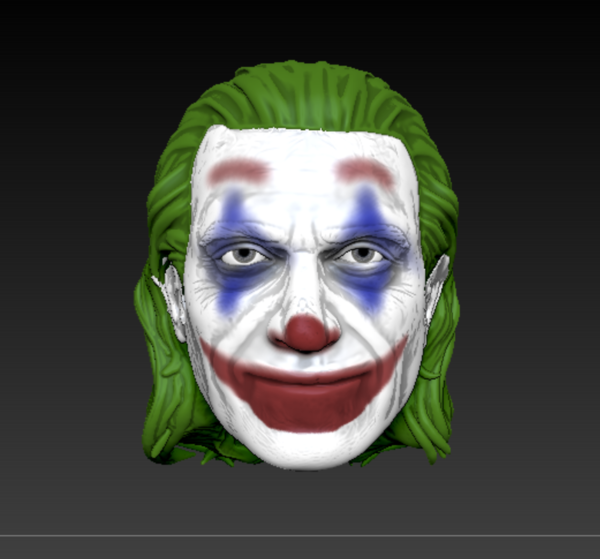 Medium Joker Head Movie ver. (Joaquin Phoenix) 3D Printing 267459