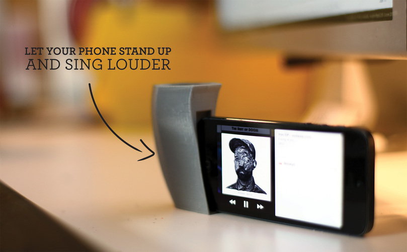 iPhone Amplifier Stand 3D Print 26767