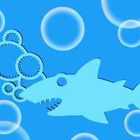 Small Shark Bubble Wand 3D Printing 26769