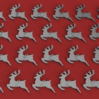 Small CHRISTMAS REINDEER1 3D letters stl file 3D Printing 267697