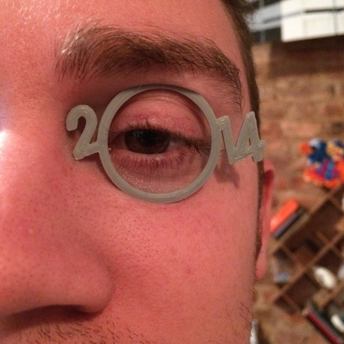 2014 New Year Monocle 3D Print 26772