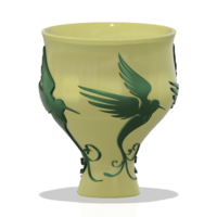 Small style vase cup vessel glass-birds for 3d-print or cnc 3D Printing 267803