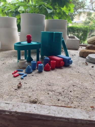 Pottery Wheel & Kiln Toy Set 3D Print 26791