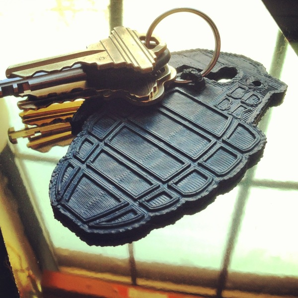 Medium Grenade Key Clip 3D Printing 26797