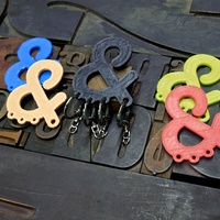 Small Ampersand Carabiner 3D Printing 26802