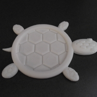 Small Turtle Drink Coaster. 3D Printing 26814