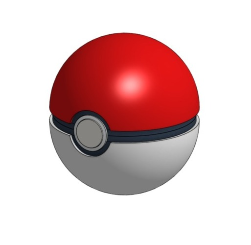 Pokeball (opens and closes) 3D Print 26834