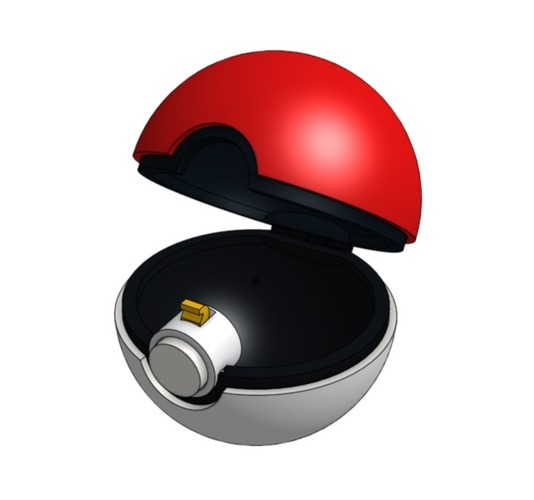 Pokeball (opens and closes) 3D Print 26835