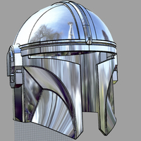 Small THE MANDALORIAN HELMET 3D PRINT MODEL UPDATED 3D Printing 268372