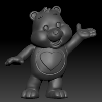 Small Care Bear  3D Printing 2690