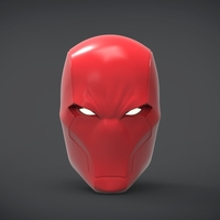 Small Red Hood  Helmet -mask life size 3D Printing 269060