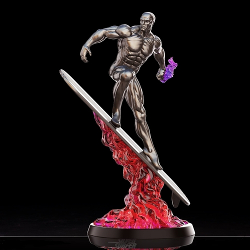 Silver Surfer in action - 3D print model 3D Print 269156