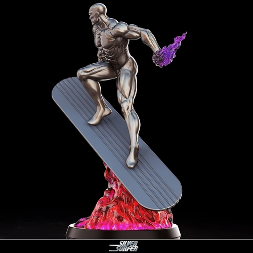 Silver Surfer in action - 3D print model 3D Print 269160