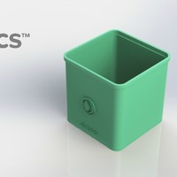 Small Square Pot - 3Dponics Cube System 3D Printing 26918